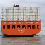 Kühlcontainer beim Seetransport