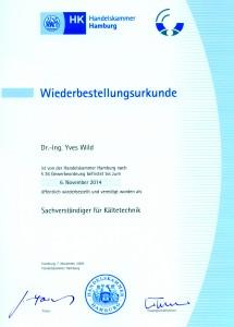 Wiederbestellungsurkunde <br>2009 – 2014