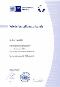 Wiederbestellungsurkunde 2014 – 2019